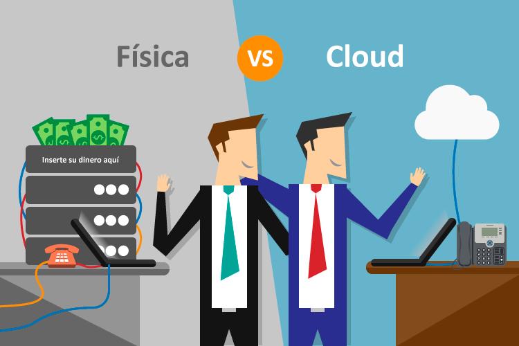 centrales en la nube versus físicas