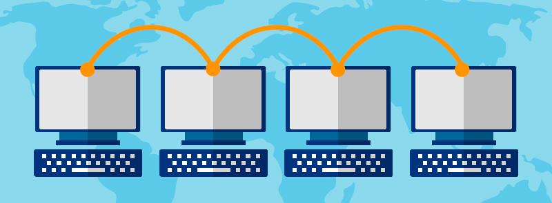 conexión entre oficinas